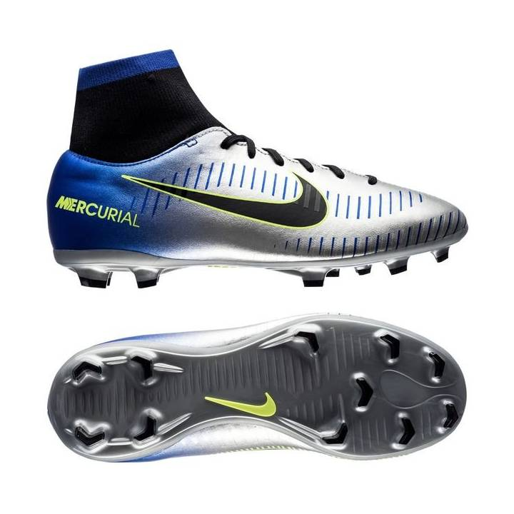 Nike Neymar JR Mercurial Victory VI Dynamic Fit Firm Ground Football Boots - Racer Blue - Kids Image