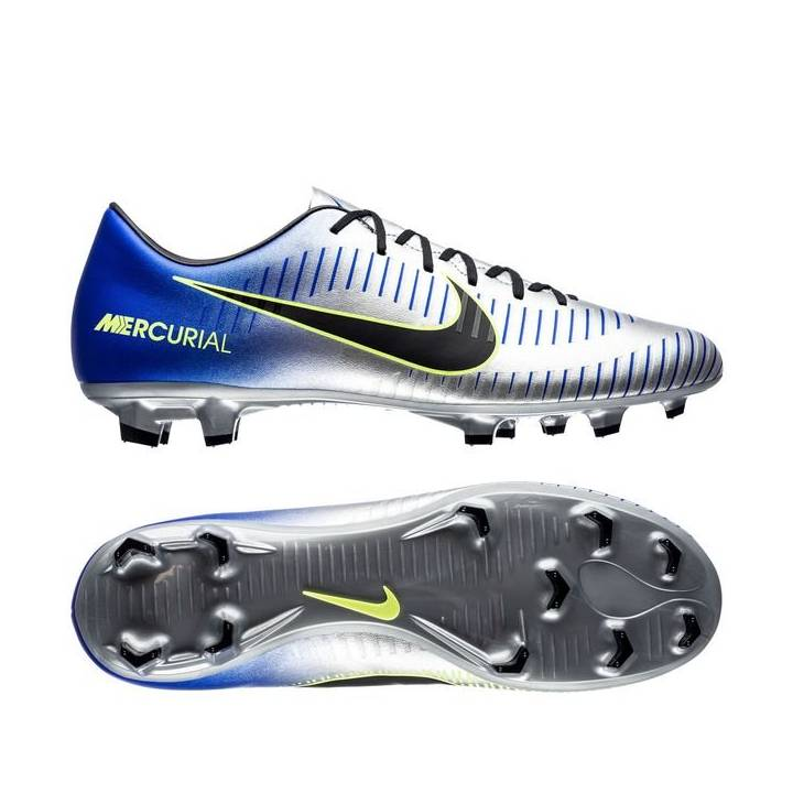 Nike Neymar JR Mercurial Victory VI Firm Ground Football Boots - Racer Blue/Black/Chrome Image