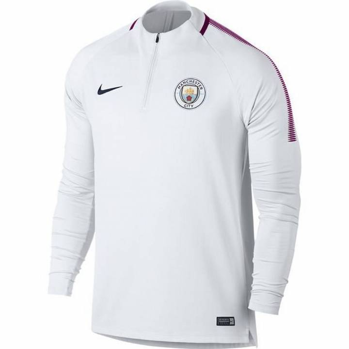 Nike Manchester City Training Squad Drill Top 2017/18 - White - Mens Image