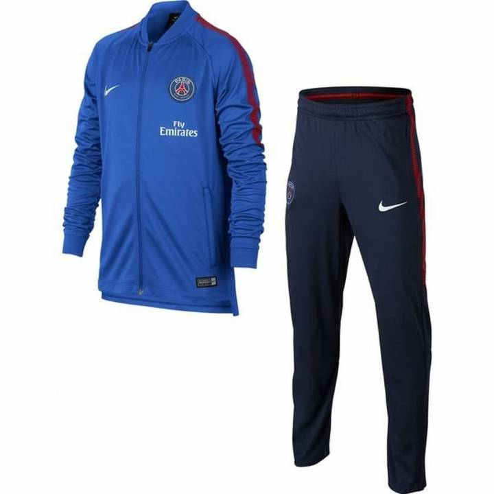 Nike PSG Paris Saint Germain Squad Knit Tracksuit 2017/18 - Blue - Kids Image