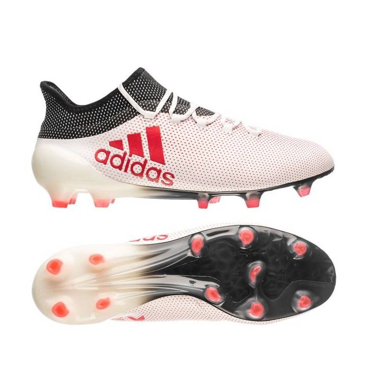 adidas X 17.1 Firm Ground Football Boots - Footwear White/Real Coral/Core Black Image