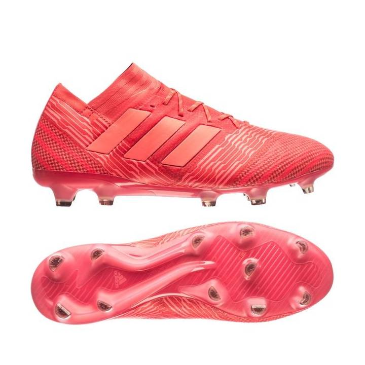 adidas Nemeziz 17.1 Firm Ground Football Boots - Real Coral/Red Zest/Core Black