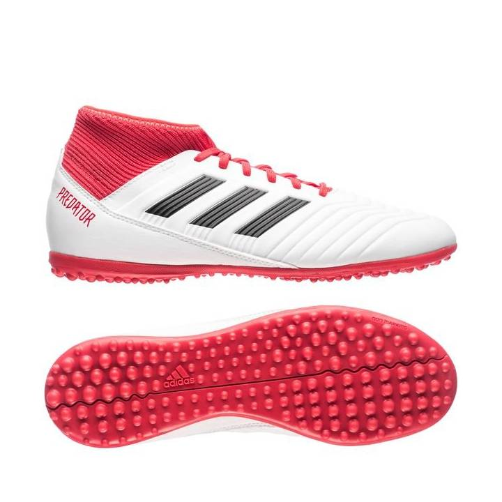 adidas Predator Tango 18.3 Astroturf Trainers - Footwear White/Core Black/Real Coral - Kids Image