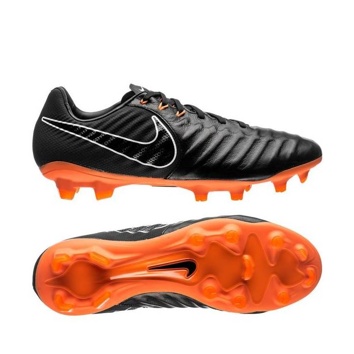Nike Tiempo Legend VII Pro Firm Ground Football Boots - Black/Total  Orange/White