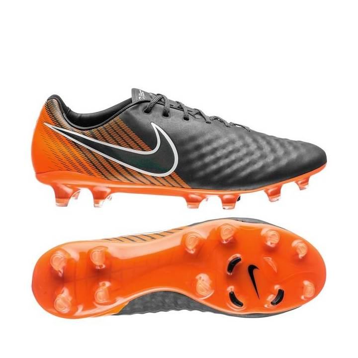 Nike Magista Obra II Elite Firm Ground Football Boots - Dark Grey/Black/Total Orange Image