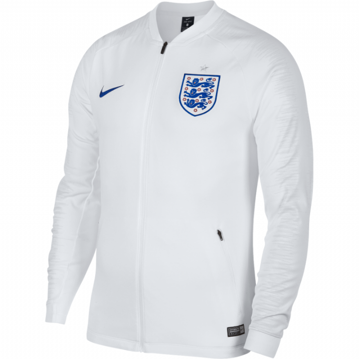Nike England Anthem Training Jacket 2018/19 - White - Mens Image