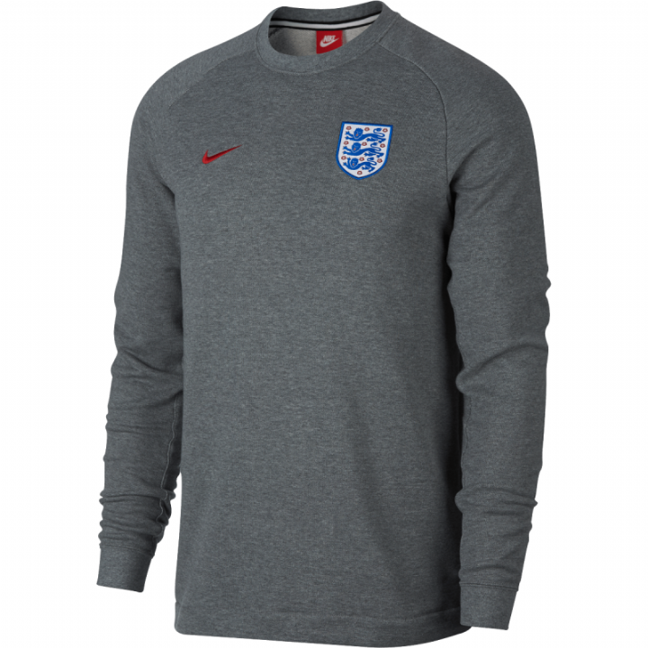 Nike England Authentic Modern Crew Sweater 2018/19 - Grey - Mens Image