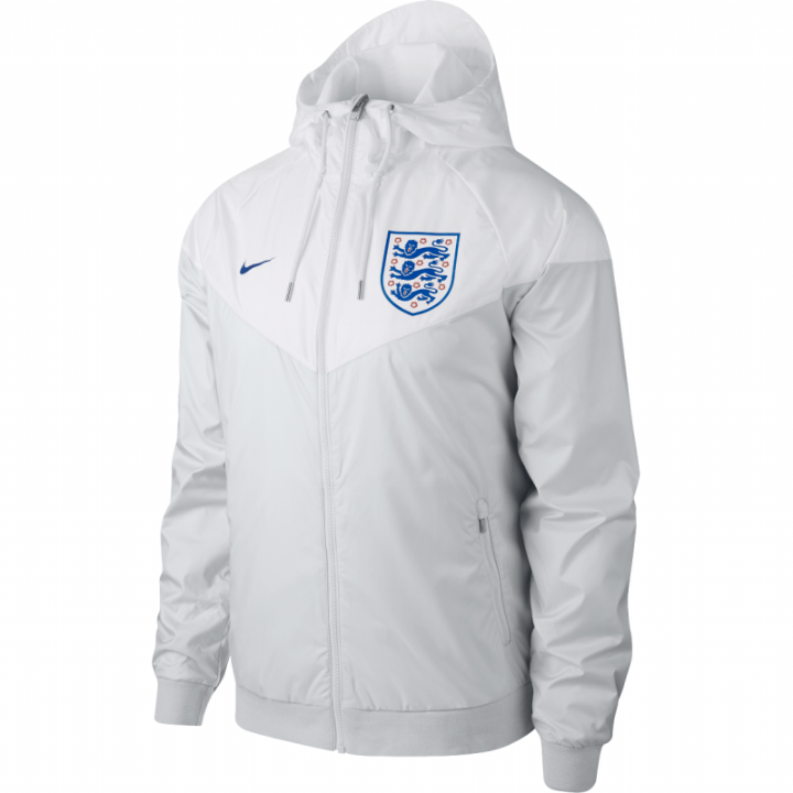 Nike England Authentic Woven Windrunner Jacket 2018/19 - White - Mens Image