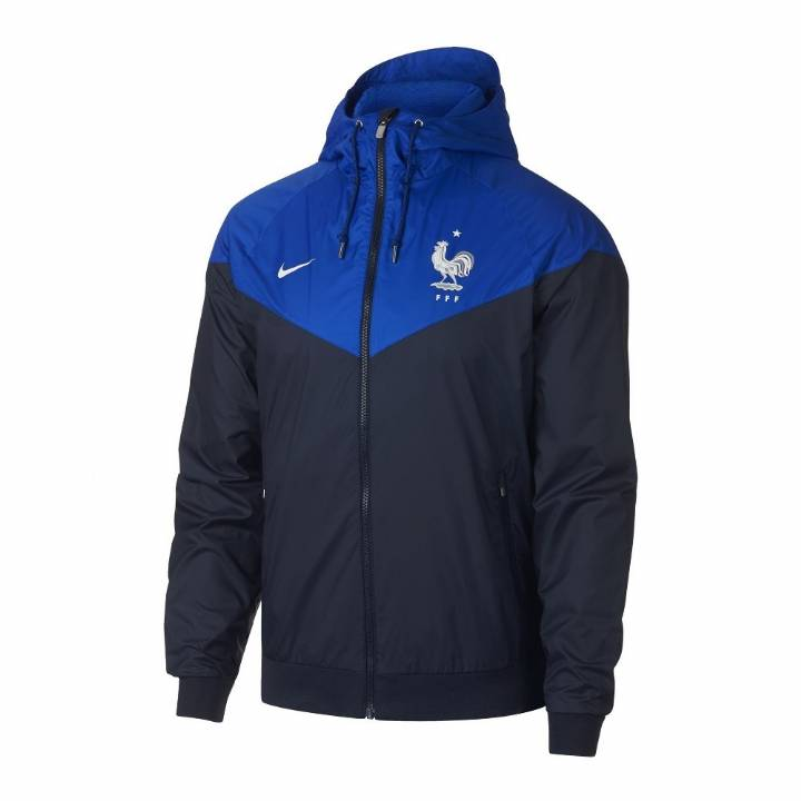 Nike France Authentic Woven Windrunner 2018/19 Jacket - Navy - Mens Image