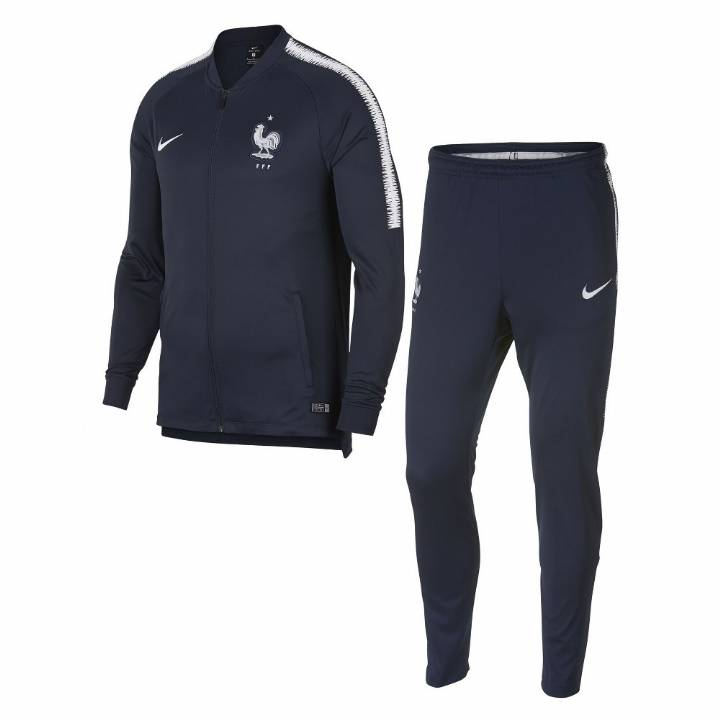 Nike France Squad Training Tracksuit 2018/19 - Navy - Mens Image