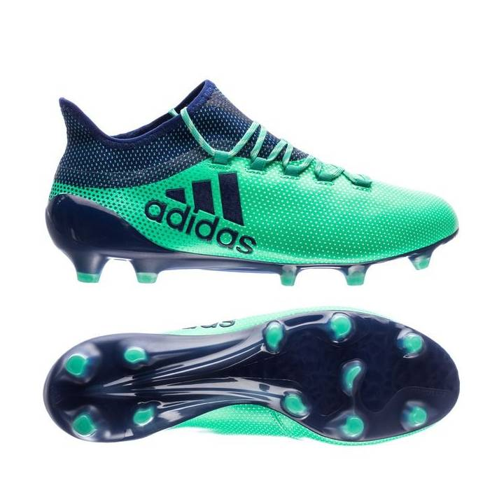 adidas X 17.1 Firm Ground Football Boots - Aero Green/Unity Ink/Hi-Res Green Image