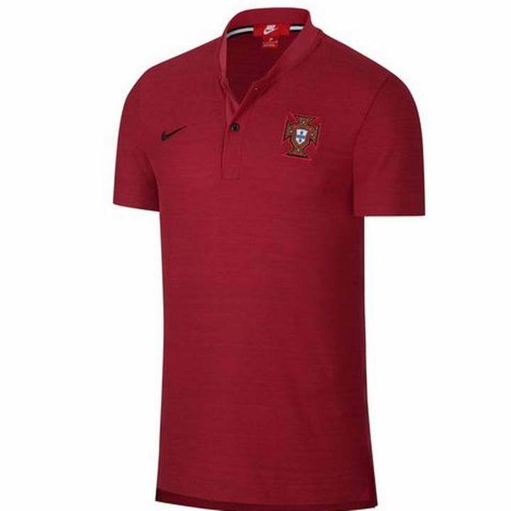 Nike Portugal Authentic Grand Slam Franchise Polo Shirt 2018/19 - Red - Mens Image