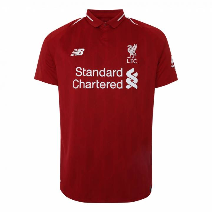 New Balance Liverpool Home Shirt 2018/19 - Mens