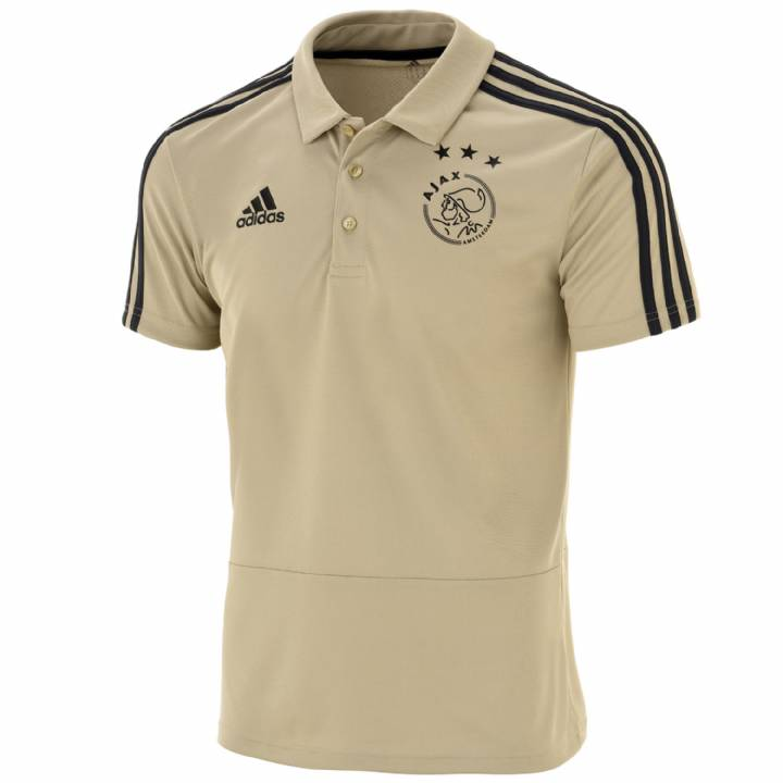 adidas Ajax Training Polo Shirt 2018/19 - Gold - Mens Image
