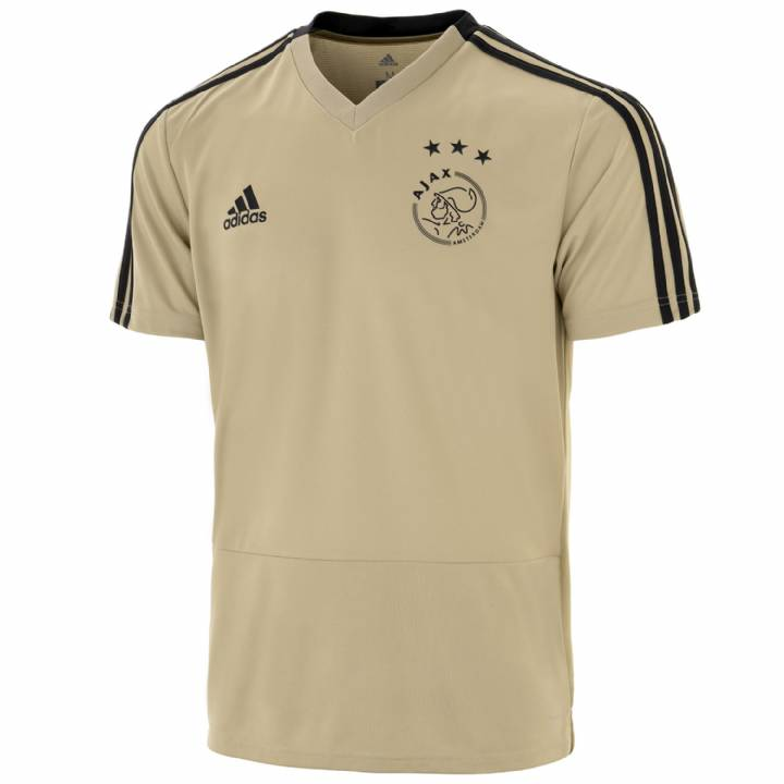 adidas Ajax Training Shirt 2018/19 - Gold - Mens Image