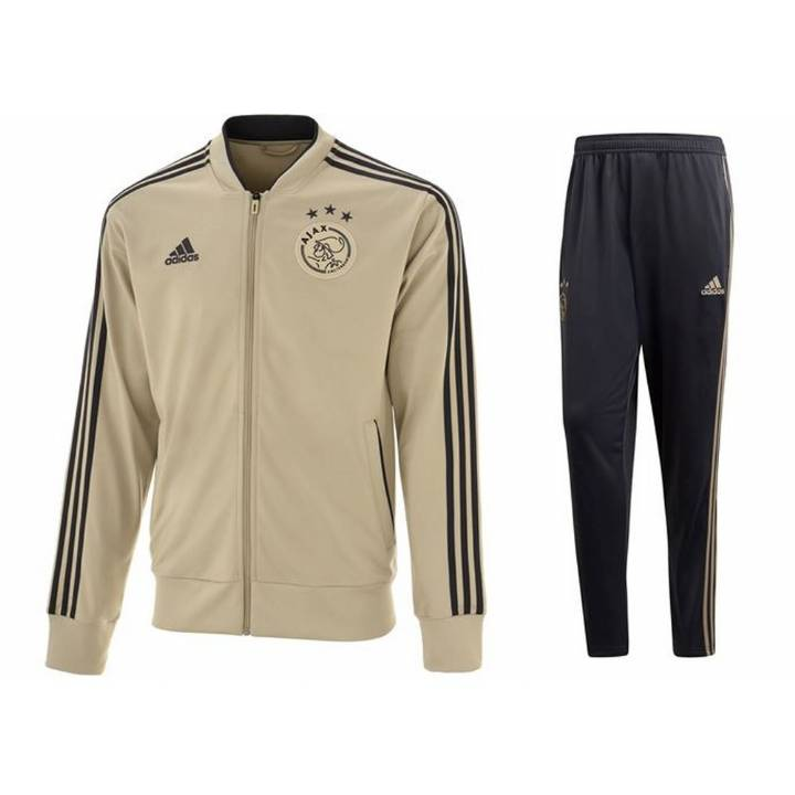 adidas Ajax Training Tracksuit 2018/19 - Gold - Mens Image