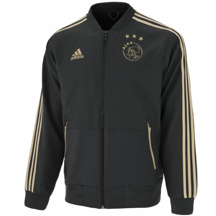 adidas Ajax Training Presentation Jacket 2018/19 - Grey - Mens Image