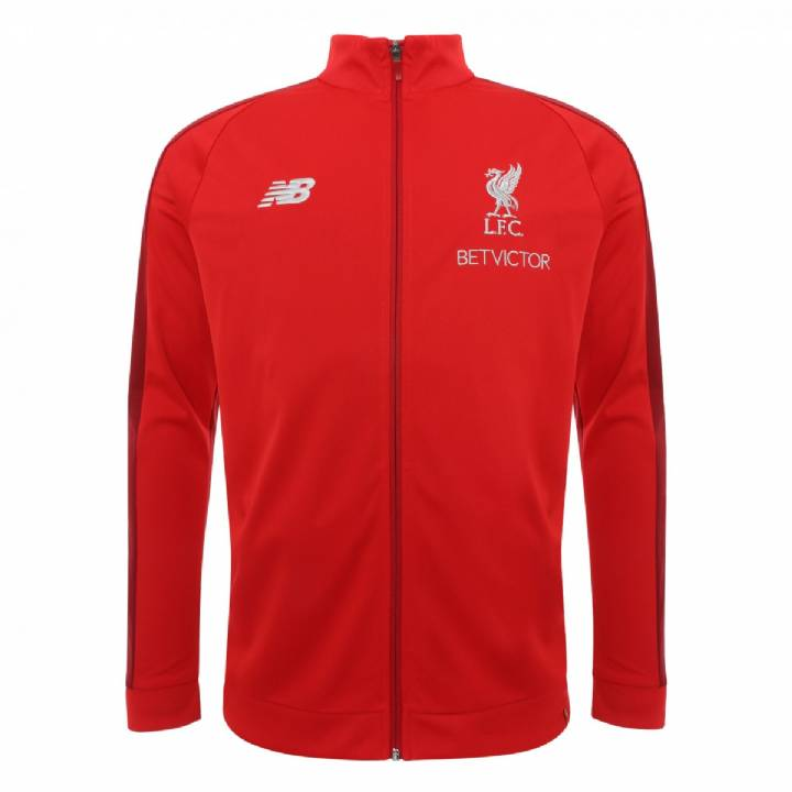 New Balance Liverpool Training Presentation Jacket 2018/19 - Red - Mens Image