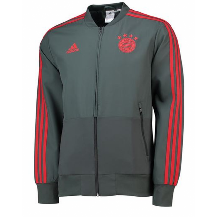 adidas Bayern Munich Training Presentation Jacket 2018/19 - Mens Image