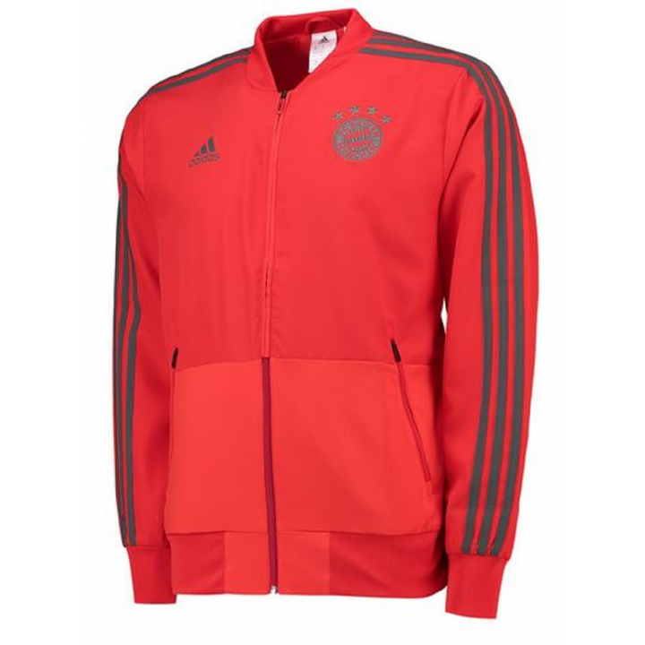 adidas Bayern Munich Training Presentation Jacket 2018/19 - Red - Mens Image