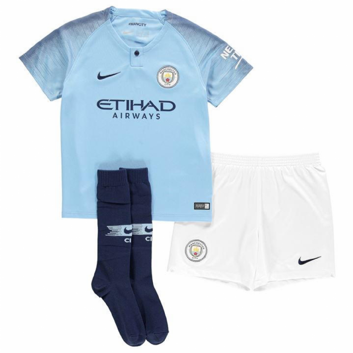Nike Manchester City Home Kit 2018/19 - Little Kids Image