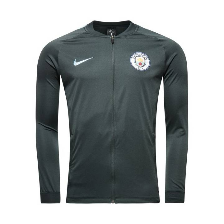 Nike Manchester City Training Squad Track Jacket 2017/18 - Dark Green - Mens Image