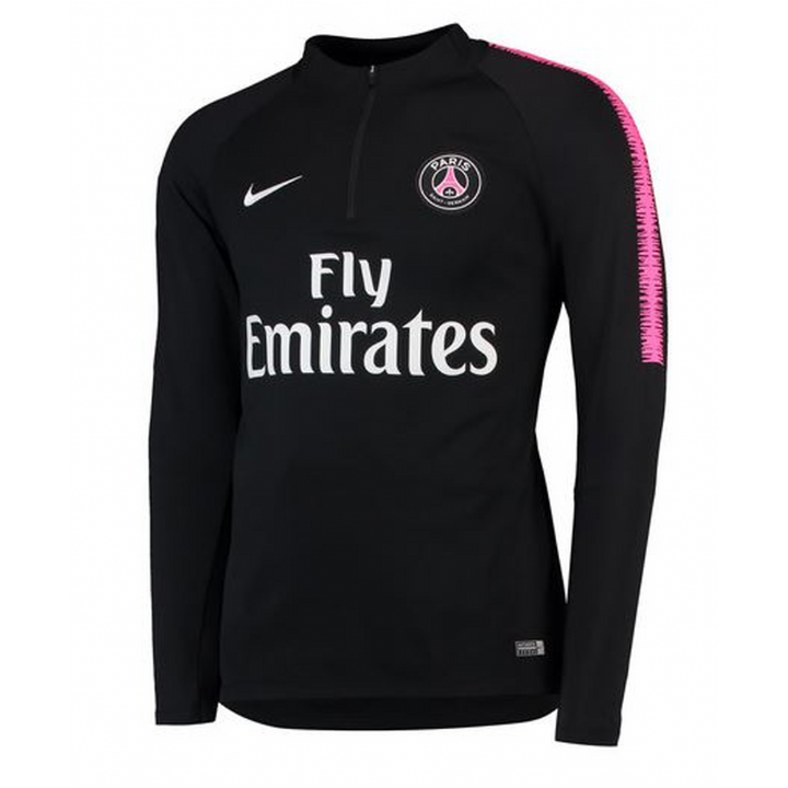 Nike PSG Paris Saint Germain Squad Drill Top 2018/19 - Black - Mens Image