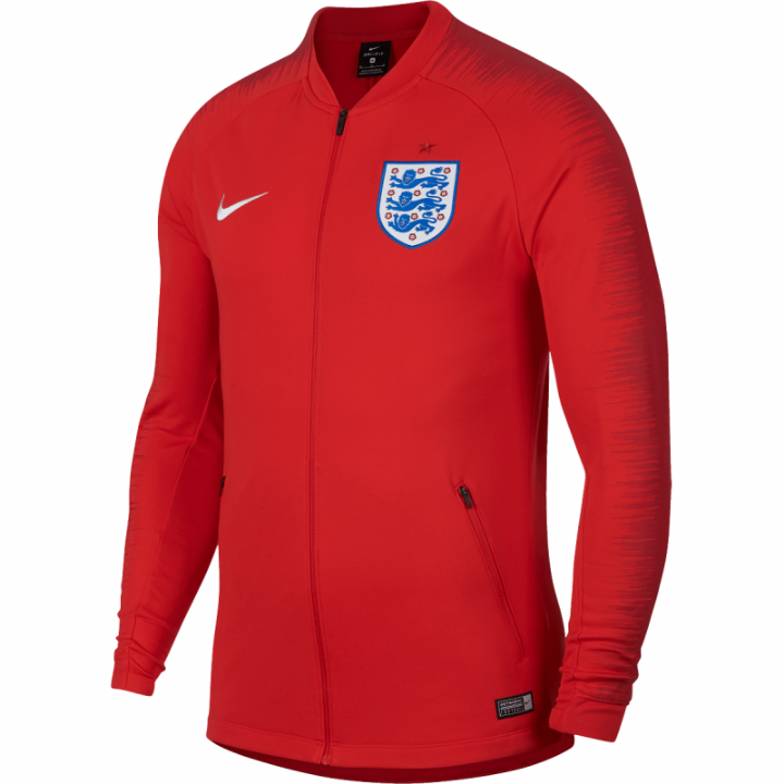 Nike England Anthem Training Jacket 2018/19 - Red - Mens Image
