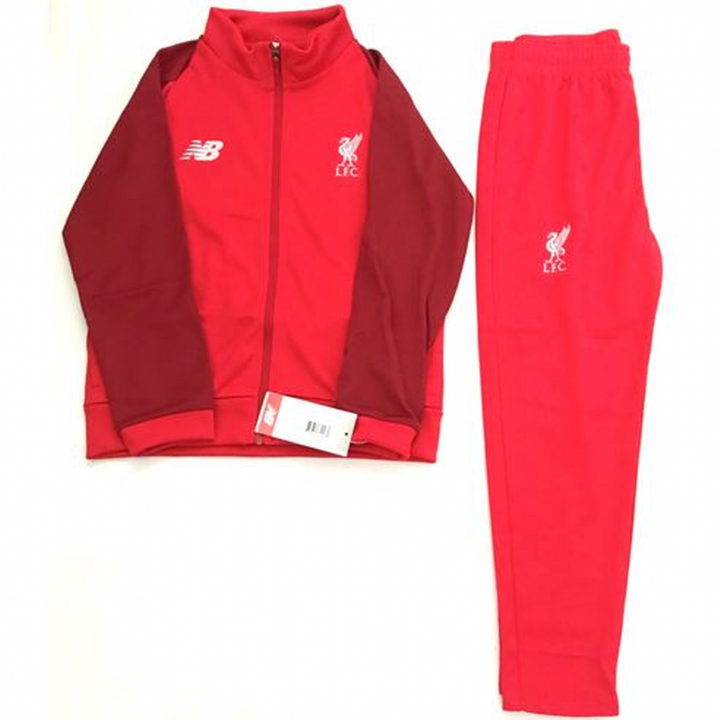 New Balance Liverpool Training Presentation Tracksuit 2018/19 - Red - Infants Image