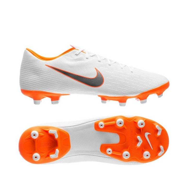 Nike Mercurial Vapor 12 Academy Multi-Ground Football Boots - White/Total Orange Image