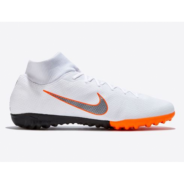 Nike Mercurial X Superfly VI Academy Astroturf Trainers - White/Total Orange Image