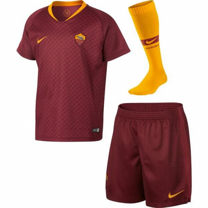 Nike AS Roma Home Kit 2018/19 - Little Kids Image