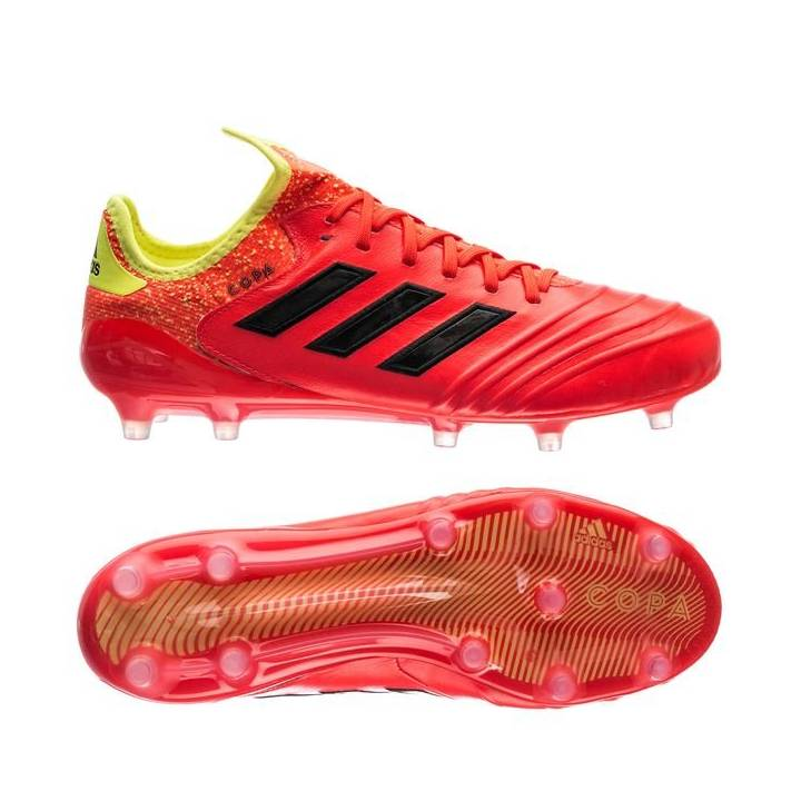 adidas Copa 18.1 Firm Ground Football Boots - Solar Red/Solar Yellow Image