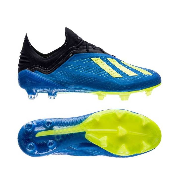 adidas X 18.1 Firm Ground Football Boots - Blue/Solar Yellow/Core Black Image
