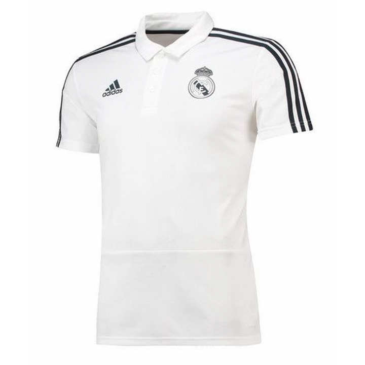 ba0ef14781 adidas Real Madrid Training Polo Shirt 2018/19 - White - Mens ...