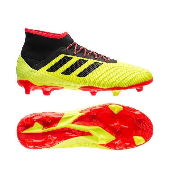 adidas Predator 18.2 Firm Ground Football Boots - Solar Yellow/Core Black