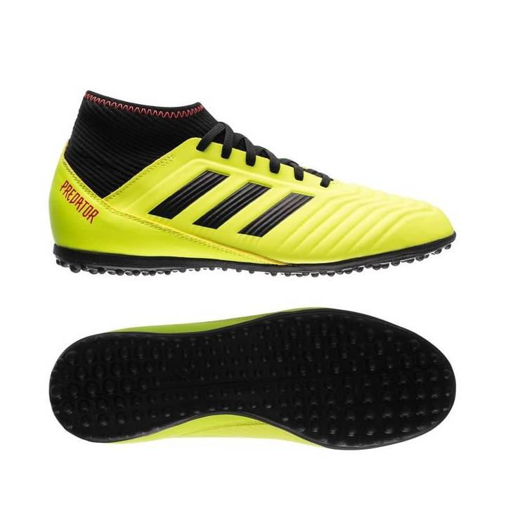 adidas Predator Tango 18.3 Astroturf Trainers -  Solar Yellow/Core Black - Kids Image