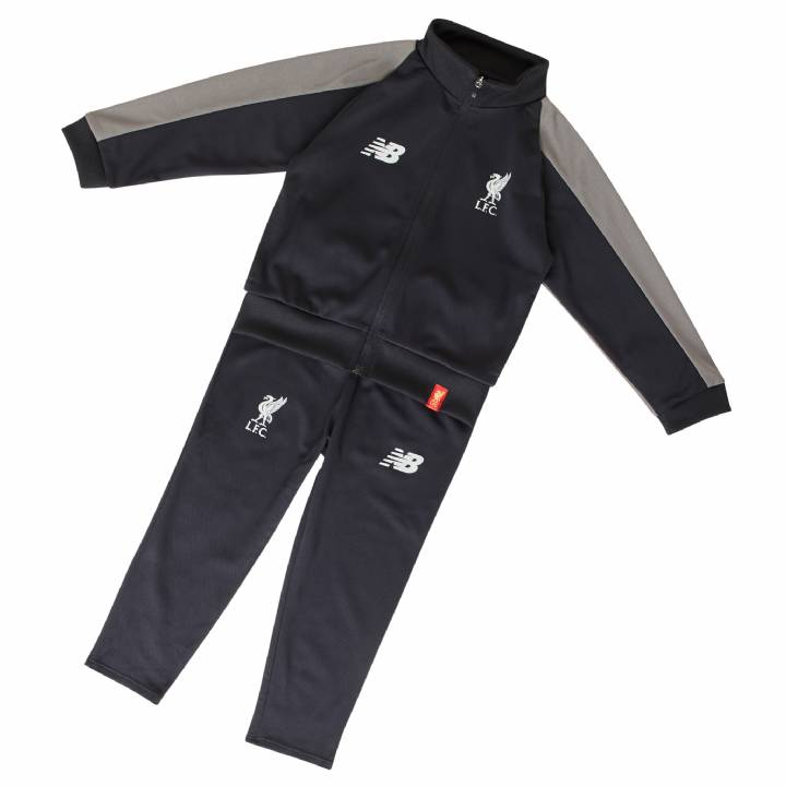 New Balance Liverpool Training Presentation Tracksuit 2018/19 - Black - Infants Image