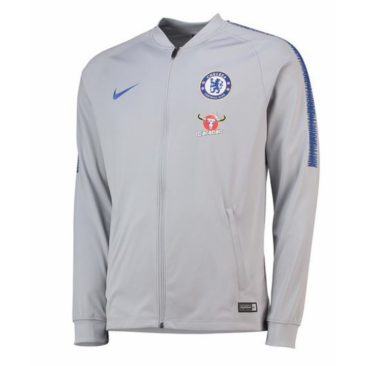 Nike Chelsea Training Squad Track Jacket 2018/19 - Grey - Mens Image