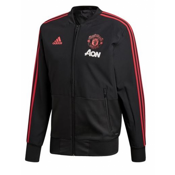 adidas Manchester United Training Presentation Jacket 2018/19 - Black - Mens Image