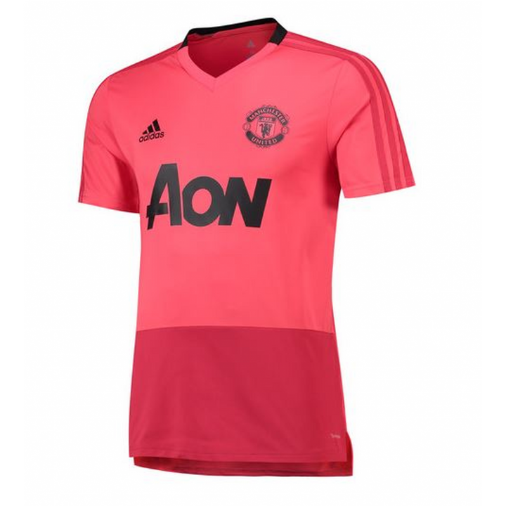 adidas Manchester United Training Shirt 2018/19 - Pink - Mens Image