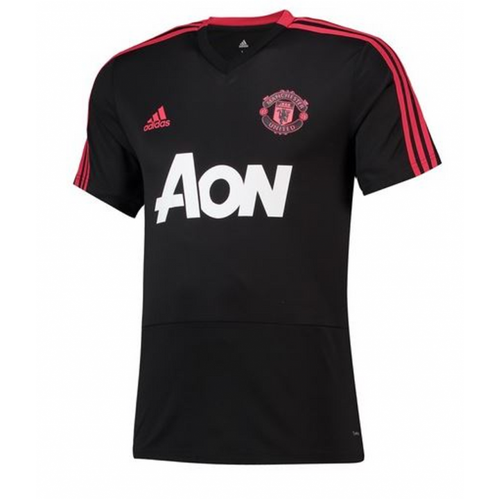 adidas Manchester United Training Shirt 2018/19 - Black - Mens Image