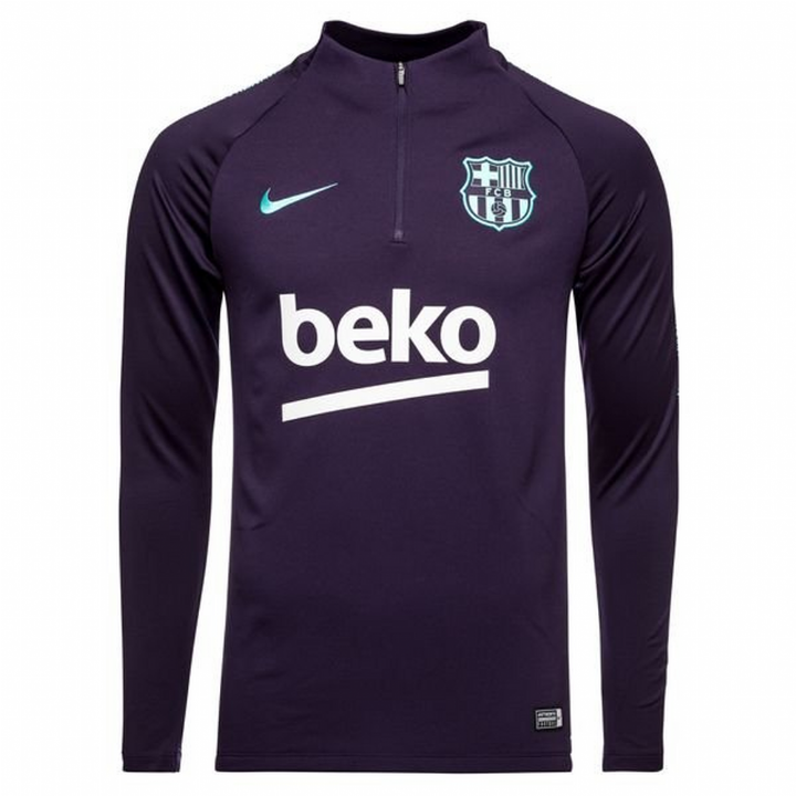 Nike Barcelona Squad Training Drill Top 2018/19 - Purple - Mens Image