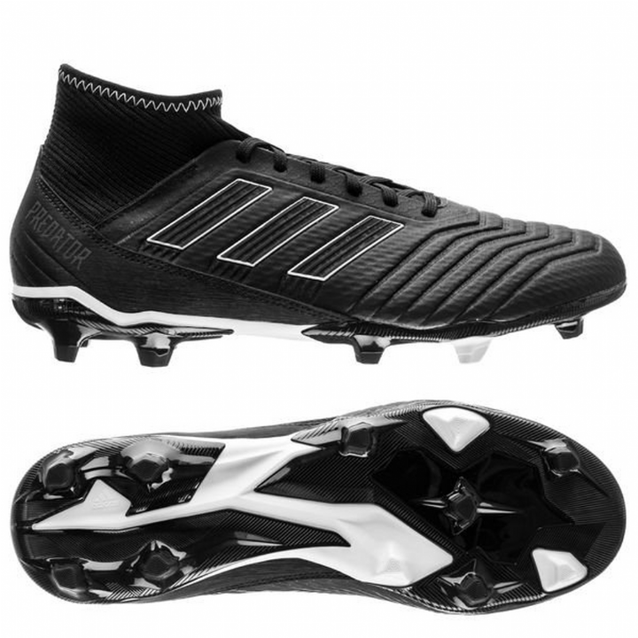 adidas Predator 18.3 Firm Ground Football Boots - Core Black/Footwear White