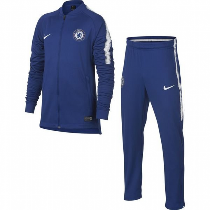 Nike Chelsea Squad Training Knit Tracksuit 2018/19 - Blue - Kids Image