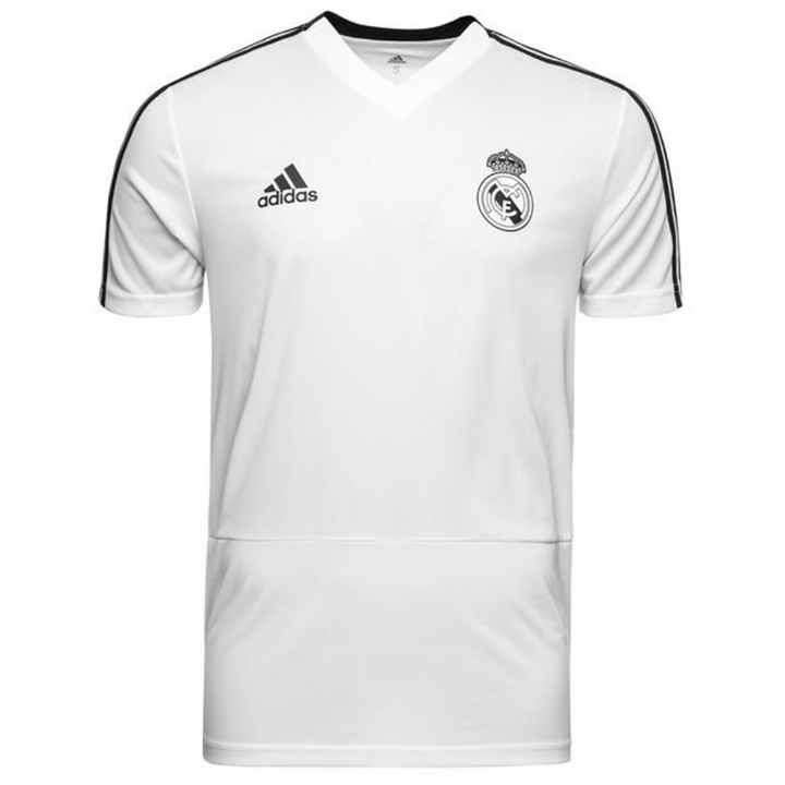 b2e3e867e adidas Real Madrid Training Shirt 2018 19 - White - Mens Image