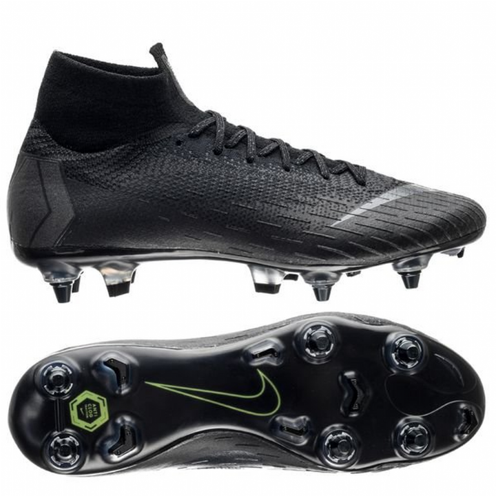 Nike Mercurial Superfly 6 VI Elite Anti-Clog Soft Ground Football Boots - Black Image