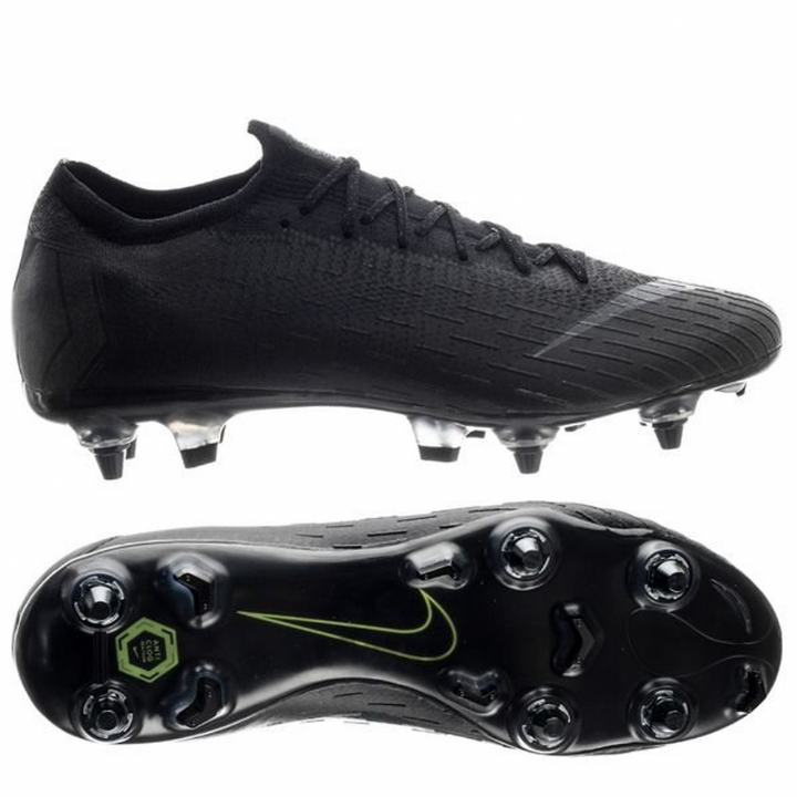 Nike Mercurial Vapor 12 XII Elite Anti-Clog Soft Ground Football Boots - Black Image