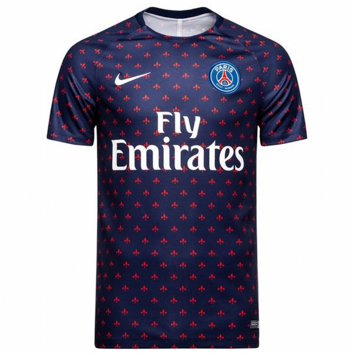 Nike PSG Paris Saint-Germain Squad Pre Match Shirt 2018/19 - Blue - Mens Image