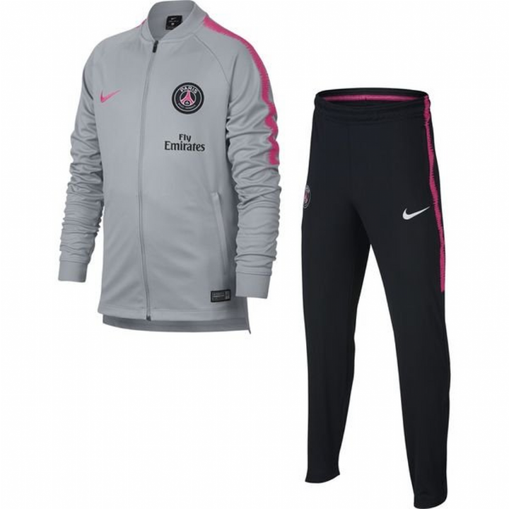 Nike PSG Paris Saint Germain Squad Knit Tracksuit 2018/19 - Grey - Kids Image
